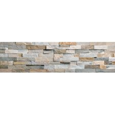 "Beach Ledge Stone Split Face Wall Cladding 24"" x 6"" Tile in Multi Color"