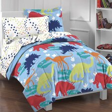 Dinosaur 5 Piece Twin Bed in a Bag Set