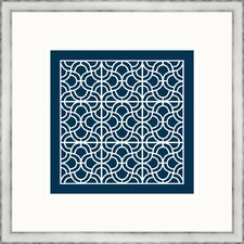 Navy Geometrics lll Wall Art