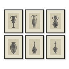 6 Piece Pretty Urns Set Wall Art
