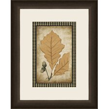 Houndstooth Leaves II Wall Art
