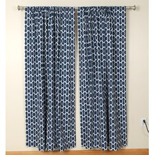 Circles and Squares Rod Pocket Curtain Single Panel