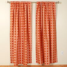 Geometric Rod Pocket Curtain Single Panel