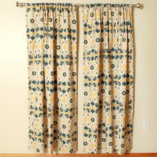 Rio Denim Natural Rod Pocket Curtain Single Panel