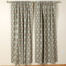 Annie Eaton Blue Kelp Linen Rod Pocket Curtain Single Panel