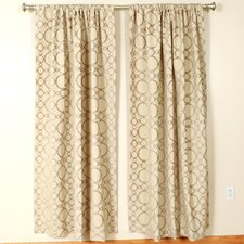 Shimmer Rod Pocket Curtain Single Panel