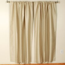 Solid Ironstone Rod Pocket Curtain Single Panel