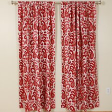 Ikat Rod Pocket Curtain Single Panel
