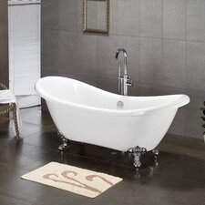 "68"" x 28"" Claw Foot Slipper Tub"