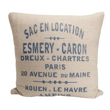 Hampton Classic French Words Pillow