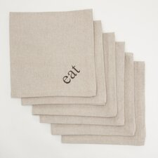 Eat Dinner Napkin (Set of 6)