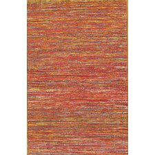 Sari Silk Red/Yellow Rug