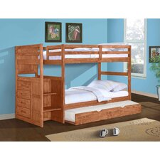 Ranch Twin Standard Bunk Bed with Trundle Bed and Stairway
