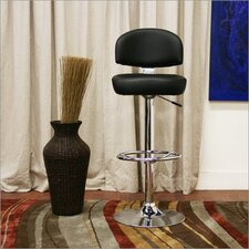 Baxton Studio Grayson Faux Leather Barstool in Black (Set of 2)