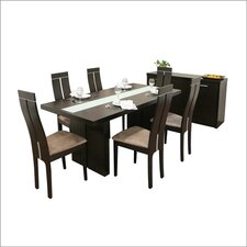 Baxton Studio Magness 8 Piece Dining Set