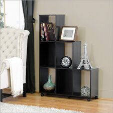 Baxton Studio Hexham Rolling Display Shelving Unit and Room Divider