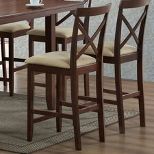 Baxton Studio Natalie Wood Modern Counter Stool (Set of 2)