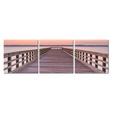 Baxton Studio Pier Sunset Mounted Photography Print