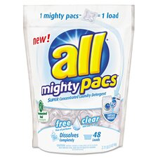 All Mighty Pacs Free and Clear Super Concentrated Laundry Detergent