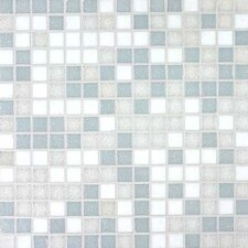 "Tesserae Blends 12-7/8"" x 12-7/8"" Glass Tile in Glacier Bay"