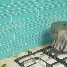 "Club 10-1/2"" x 9-1/2"" Cristezza Glass Tile in Teal"