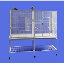 Double Flight Bird Cage with Divider