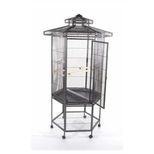 Hexagonal Aviary Bird Cage with Pagoda Top