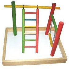 "20""x15""x14"" Wood Tabletop Play Station"