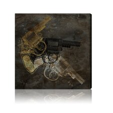 ''Gold Revolver'' Canvas Wall Art