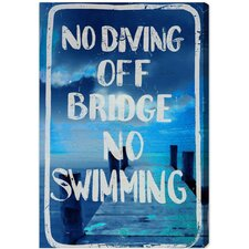No Diving Canvas Art