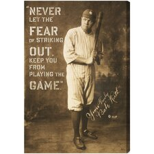 Babe Ruth Quote Canvas Art