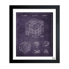 Spatial Logical Toy 1983 Framed Art