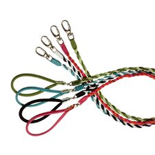 Fashion Two Color Twisted Tubular Leather Dog Leash