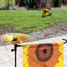 Butterfly Solar Flagpole Light