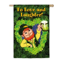 Love And Laughter Vertical Flag