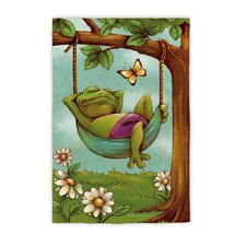 Day Dreamers Frog Garden Flag