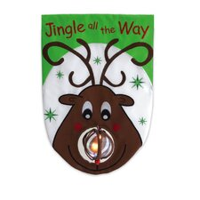 Jingle All The Way Applique Garden Flag