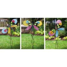 Blissful Butterfly Garden Stake (Set of 3)