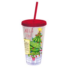 All Lit Up Tree Insulated Cup