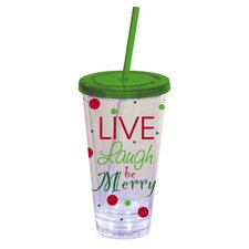 Live, Laugh, Be Merry Insulated Cup