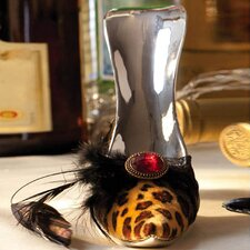 Leopard Print High Heel Wine Bottle Holder