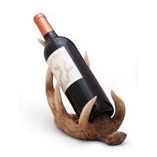 Cabin Christmas Antler Wine Bottle Holder