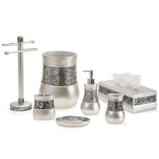 Brushed Nickel 6 Piece Bathroom Accessory Set