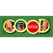 Coca Cola Good Coke Stretched Canvas Print