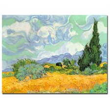 """Wheatfield with Cypresses, 1889"" Canvas Art"