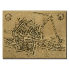"""Map of Rovigo, 1704"" Canvas Art"