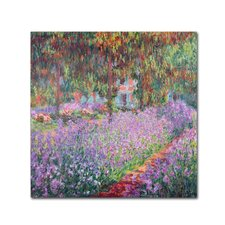 """The Artist's Garden at Giverny"" Canvas Art"