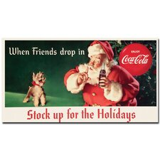 "Coca-Cola ""Santa with Dog - Stock Up for the Holiday"" Canvas Art"
