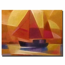 'Sunset Sailing' Canvas Art