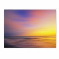 'Metallic Sunset' Canvas Art